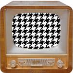 Bildschirm mit Pepita-Muster