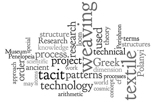 Tagcloud des Marie Curie Projekts